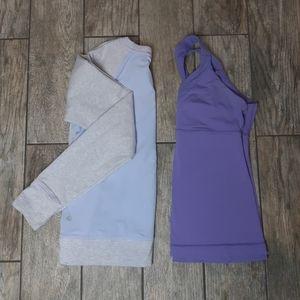lululemon athletica | Sweatshirt and Tank Top Set